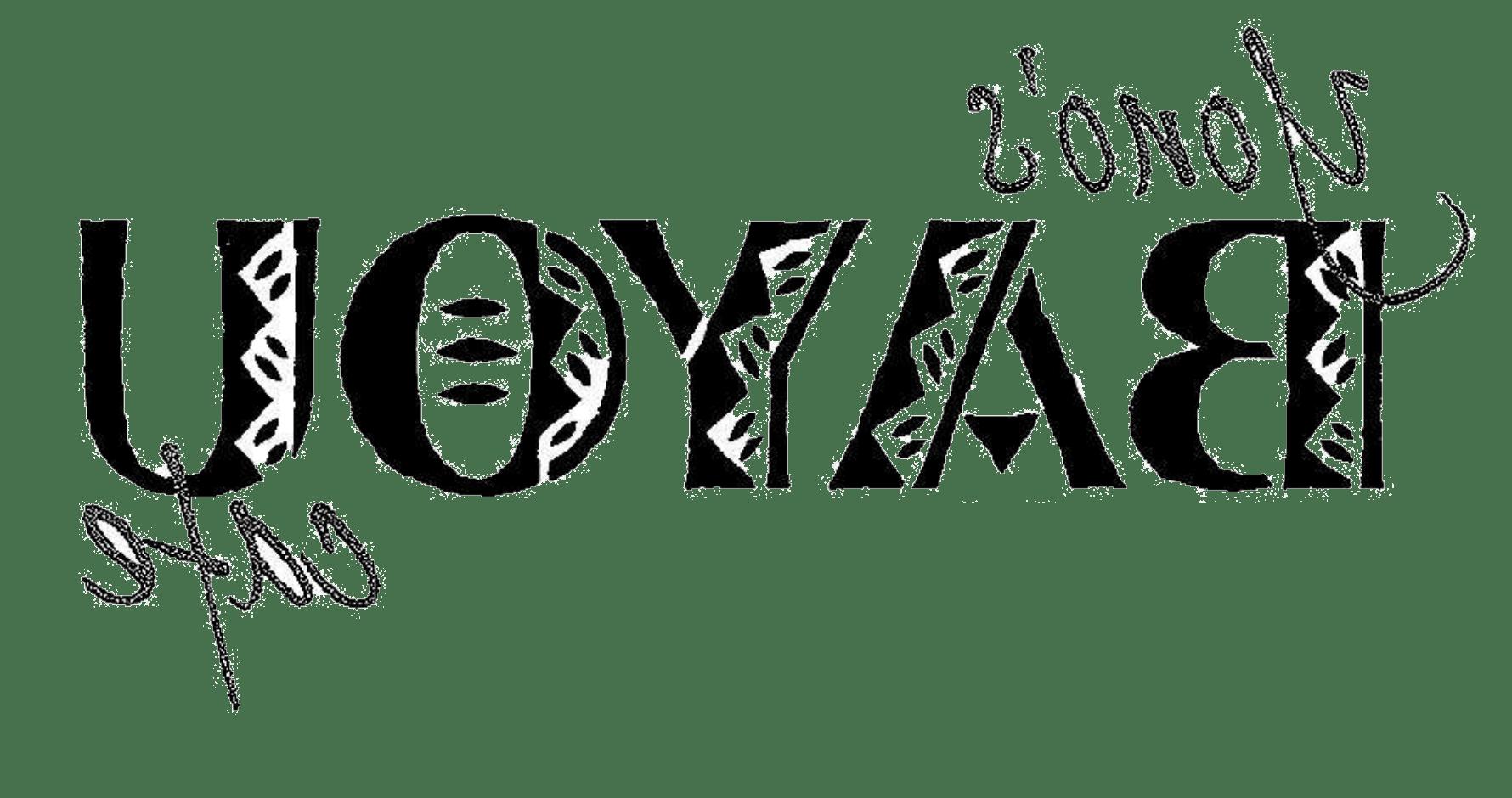 Yono's Bayou咖啡店的黑字Logo