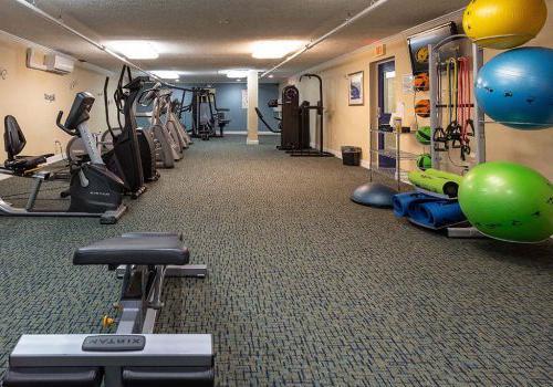 在宾夕法尼亚州诺里斯敦,有450套格林bbin可供出租,内有健身器材的健身房
