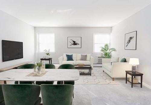 一个客厅和餐厅区在布罗姆利房子bbin出租