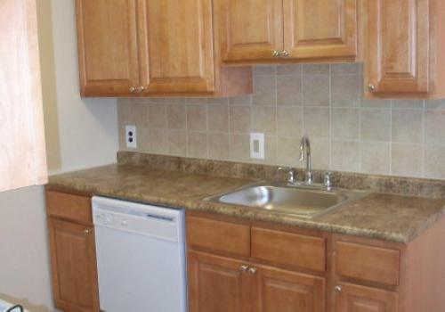 朗伍德庄园bbin出租的棕色橱柜厨房