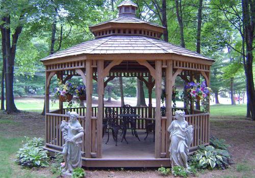 露台与雕像,座位区,鲜花在威斯敏斯特公园bbin出租