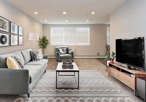 大客厅,沙发,椅子,电视在柳树弯bbin出租在费城,宾夕法尼亚州