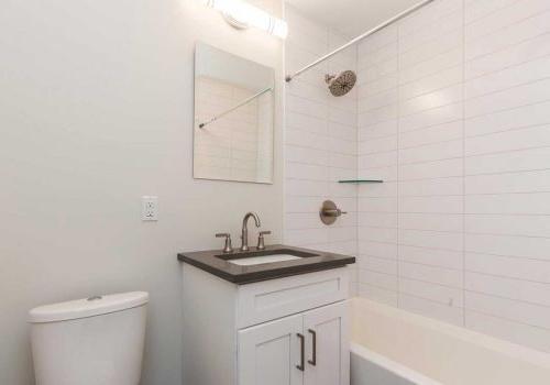 西山塞奇威克露台bbin的更新浴室. 艾里,费城,宾夕法尼亚州